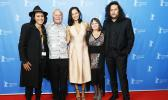 """Cast with producer and director of Tusi Tamasese's Samoan-language drama """"One Thousand Ropes"""" during the World Premiere at the Berlin Film Festival 2017. (l-r) Nicky Si'ulepa, Uelese Petaia, Frankie Adams, Producer Catherine Fitzgerald, and Writer/Director Tusi Tamasese. The film is set to debut locally at the Fatu-O-Aiga Hall, in Tafuna, Thursday, Oct. 26 & Friday, Oct. 27, 7 p.m. — """"Ata tifaga Samoa ile gagana Samoa"""". Tickets are $10. Contact numbers for more info are: 258-4197 or 258-5800. The movie is p"""