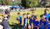 Sydney's seven year old gentle giant of rugby league. [photo: Supplied to Darily Telegraph]