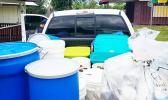 The American Samoa Environmental Protection Agency (AS-EPA) successful completed a hazardous waste removal action by the United States Environmental Protection Agency (US-EPA) in American Samoa last week. The hazardous waste was packed into a 20-foot shipping container that will depart the Territory in two weeks, for eventual disposal at a regulated facility off-island.  [Courtesy photo]