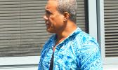 Afa Fuimaono outside of the Court after he was sentenced last Friday for using a machete to strike another man three times during a land dispute in December of last year. During sentencing, Chief Justice Michael Kruse pointed out that sadly the land belongs to neither men — yet the incident has had such a negative impact on both men's lives.  [photo by AF]