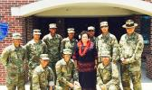 Congresswoman Amata with Pacific Islander soldiers at Ft. Jackson earlier this year.[courtsy photo]