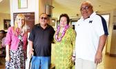 Amata with local veterans and Jennifer Gutowski – Director of US VA Pacific Islands Healthcare.  [courtesy photo]