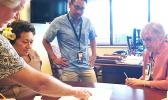 Amata on a fact-finding visit to Tripler Center to discuss services to veterans.  [courtesy photo]