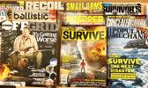 "Disaster Prep magazines abound IN the market now as ""national fear of natural & manmade disasters"" is perceived. [photo supplied]"