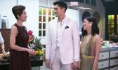 """This image released by Warner Bros. Pictures shows, from left, Michelle Yeoh, Henry Golding and Constance Wu in a scene from """"Crazy Rich Asians,"""" in theaters on August 17. (Sanja Bucko/Warner Bros. Pictures via AP)"""