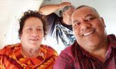 Congresswoman Aumua and Lt Governor Lemanu on a recent flight to Manu'a. [courtesy photo]