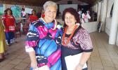 Fiame Naomi Mata'afa, Minister and and Dr. Salu Hunkin-Finau in a  2012 Samoa News file photo. [Samoa News]