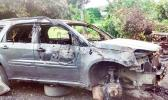 A look at the Luani Family car that was destroyed by a fire last week.[Courtesy Photo: Luani Family]