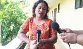Ministry of Women, Community and Social Developments official Mema Motusaga during an interview after her presentation to the media at their week-long workshop. The media was told of the data regarding the low percentage of women in parliament and the evidence of gender inequality in Samoa. The workshop is sponsored by Samoa Alliance of Media Practitioners for Development (SAMPOD).  [Photo: JL]