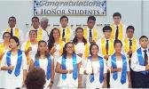 Meet the 17 newest members of the NHS and NJHS of Manumalo Academy who were inducted last Friday during a special ceremony held in the school chapel.  [Photo: Blue Chen-Fruean]