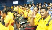 The only technical school in the territory was represented last Friday at the Tauese P. F. Sunia Ocean Center during a telepresence event hosted by the crew of the National Marine Sanctuary of American Samoa. See story for full details.  [photo: NMSAS]