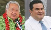 P.M. Tuilaepa Sa'ilele Malielegaoi and A.G. Lemalu Hermann Retzlaff. [Samoa Observer]