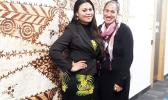 In New Zealand, Sabrina Fa'avae and Italia Toelei'u are a part of Samoan Language Week, part of a series of Pacific language weeks, which this year tie together language, culture and identity. Samoan Language Week ends this Friday, June 3.  [Photo: RNZ Pacific / Sara Vui-Talitu]