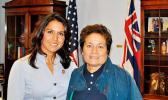 Congresswomen Aumua Amata and Tulsi Gabbard