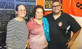 Congresswoman Amata with her daughter Erika Leatavalavala Radewagen, and small business owner Nate Ilaoa