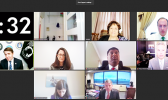 Congresswoman Amata and others in virtual committee meeting