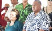 Congresswoman Uifa'atali Amata and Gov. Lemanu