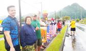 Amata with Peter Anaya and others a Veterans Day wave