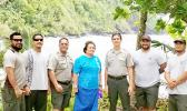 Amata with Superintendent Scott Burch, Ranger/Education Assistant Pua Tuaua Jr., and a hardworking crew of the National Park of American Samoa.