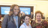 Congresswoman Amata with Guam Gov.Leon Guerrero and USVI Congresswoman Stacey Plaskett