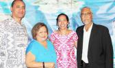 [l-r] the newly appointed Council chairman and also American Samoa Council member, Taotasi Archie Soliai; Council executive director Kitty M. Simonds; American Samoa Council member Christinna Lutu-Sanchez; and the Council's late chairman, Edwin A. Ebisui Jr. - who passed away earlier this year in July