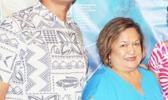 American Samoa Council member, Totasi Archie Soliai with Council executive director Kitty M. Simonds
