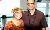 Lt. Governor Talauega Eleasalo Ale (right) with TED Program Director Shirley De la Rosa