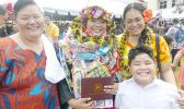 ASCC grad with her family