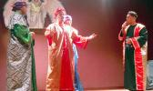 ASCC students portray the Three Wise Men meeting with King Herod