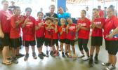 Some of the youth taking part in ASDOE's summer athletics program