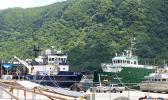 MV Sili and MV Manuatele II docked Wednesday along side the main Pago Harbor