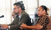 Deputy chief immigration officer Fagamalama Fualaau and Attorney General Talauega Eleasalo V. Ale