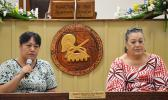American Samoa Attorney General Mitzie Jessop Taase and Chief Executive Officer (CEO) for the American Samoa Telecommunication Authority