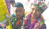 Aua's kindergarten graduation ceremony earlier this month