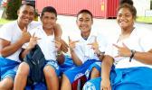 Samoana students posing for the camera
