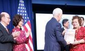 Elaine Chao ,Wilbur Ross,aumua Amata,Vice President Pence