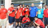 new faces in boxing, coach/trainer, Sala Sanele Etuale, Father Vaiula Iulai and assistant trainer, Tiatia Matauaina
