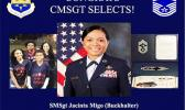 Photos of U.S. Air Force Senior Master Sergeant Jacinta Migo Buckhalter and family members