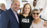 San Juan Mayor Carmen Yulín Cruz, center, on May 14, 2019, spoke at a ceremony that marked the official opening of Puerto Rico's first center for LGBT elders