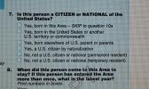 This screen shot of the Census 2010 American Samoa form shows Question 7, which has to do with a person's citizenship status: US Citizen or National. The same question will be on the 2020 questionnaire for American Samoa. According to ASG Commerce Department director Keniseli Lafaele, American Samoa's census questionnaire has always asked the question — apparently the US census form does not — but will be reinstated for the 2020 Census — a move that is raising concerns in many US cities.  [photo: FS]
