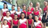 The beautiful cheerleaders of the American Youth Football of Samoa (AYFS)