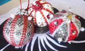 Three locally made Christmas ornaments