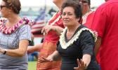 Congresswoman Aumua Amata during last year's Flag Day.