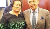 Congresswoman Amata and Commerce Secretary Wilbur Ross