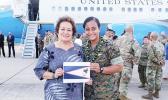 Congresswoman Amata and Marine Captain Anasitasia Ioane