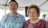 Congresswoman Aumua Amata with ASPA acting Execitive director Wallon Young