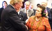 Congresswoman Amata speaking with President Trump, June 19, 2018