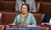 Congresswoman Amata urged her $18 million amendment before the House of Representatives last month