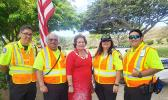 Congresswoman Amata with friends working at the 70th Memorial Day Ceremony