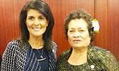 Ambassador Nikki Haley and Congresswoman Amata.